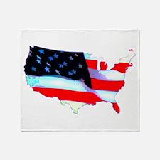 USA Flag Nation Throw Blanket