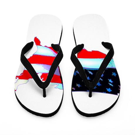 USA Flag Nation Flip Flops