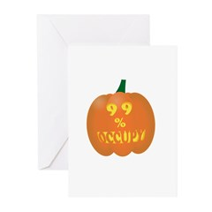occupy pumpkin limited edition Greeting Cards (Pk