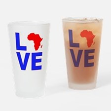 Love Africa Drinking Glass