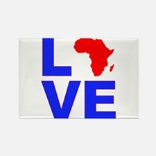 Love Africa Rectangle Magnet
