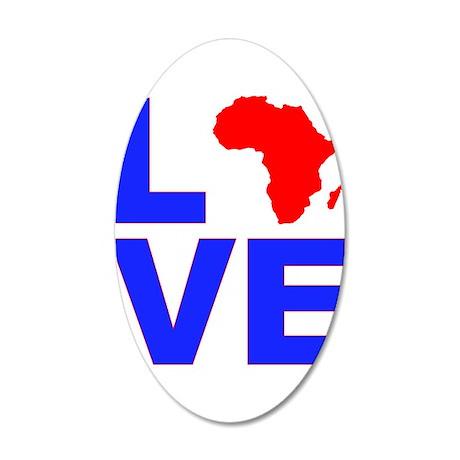 Love Africa 38.5 x 24.5 Oval Wall Peel