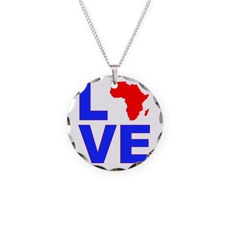 Love Africa Necklace Circle Charm