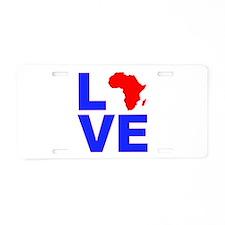 Love Africa Aluminum License Plate