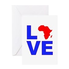 Love Africa Greeting Card