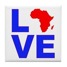 Love Africa Tile Coaster