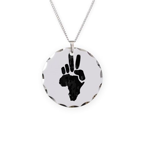 African Peace Necklace Circle Charm
