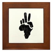 African Peace Framed Tile
