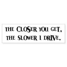 Anti-Tailgating Tailgater Bumper Car Sticker