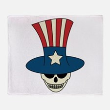 Uncle Damned Sam Throw Blanket