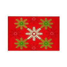 Snowflake Array Rectangle Magnet