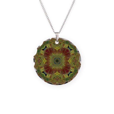 Butterfliers Square Art Manda Necklace Circle Char