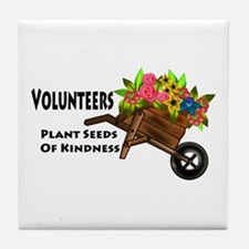 Volunteers Plant Seeds of Kindness Tile Coaster
