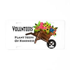 Volunteers Plant Seeds of Kindness Aluminum Licens