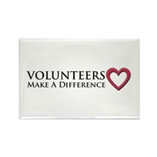 Volunteers Make a Difference Rectangle Magnet (100