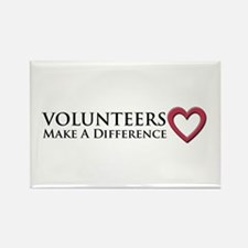 Volunteers Make a Difference Rectangle Magnet (10