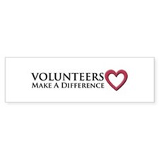 Volunteers Make a Difference Bumper Sticker