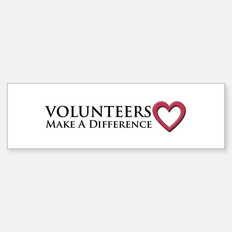 Volunteers Make a Difference Sticker (Bumper)