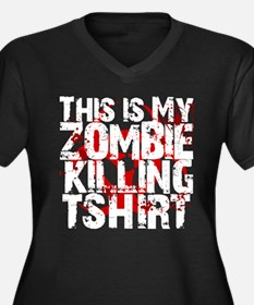 This is My Zombie Killing t-s Women's Plus Size V-
