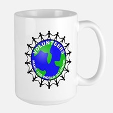 Volunteers Make the World Go Large Mug