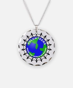 Volunteers Make the World Go Necklace