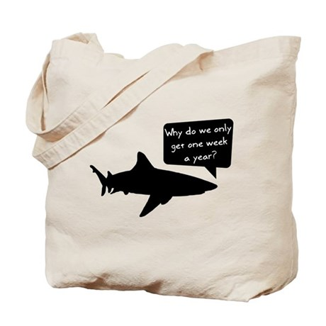 Shark Thoughts Tote Bag