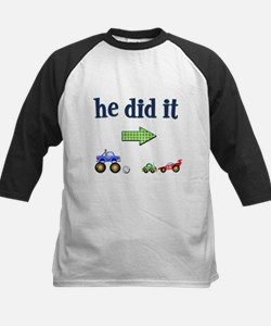 """He Did It"" (Right) Kids Baseball Jersey"