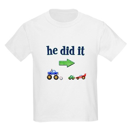 """""""He Did It"""" (Right) Kids T-Shirt"""