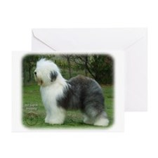 Old English Sheepdog 9F054D-18 Greeting Cards (Pk