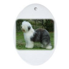 Old English Sheepdog 9F054D-18 Ornament (Oval)