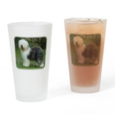 Old English Sheepdog 9F054D-17 Drinking Glass