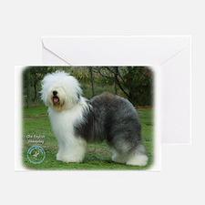 Old English Sheepdog 9F054D-17 Greeting Cards (Pk