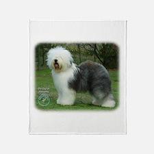 Old English Sheepdog 9F054D-17 Throw Blanket