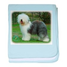 Old English Sheepdog 9F054D-17 baby blanket
