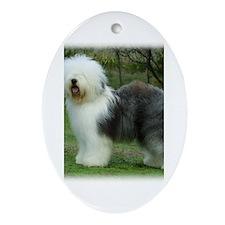 Old English Sheepdog 9F054D-17 Ornament (Oval)