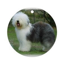 Old English Sheepdog 9F054D-17 Ornament (Round)