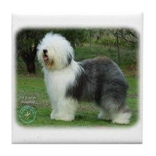 Old English Sheepdog 9F054D-08 Tile Coaster