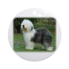 Old English Sheepdog 9F054D-08 Ornament (Round)