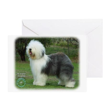 Old English Sheepdog 9F054D-08 Greeting Card