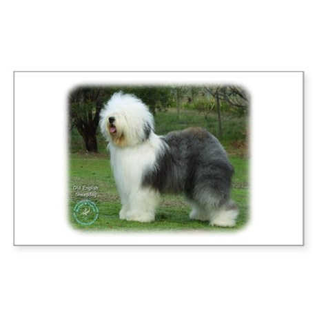 Old English Sheepdog 9F054D-08 Sticker (Rectangle)