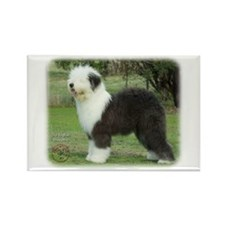 Old English Sheepdog 9F055D-17 Rectangle Magnet