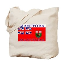 Manitoba Manitoban Flag Tote Bag