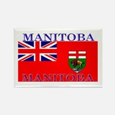 Manitoba Manitoban Flag Rectangle Magnet (100 pack