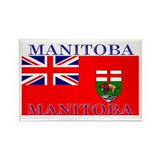 Manitoba Manitoban Flag Rectangle Magnet
