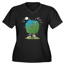 Mighty boosh Women's Plus Size V-Neck Dark T-Shirt