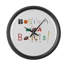 Cute Bruins Large Wall Clock