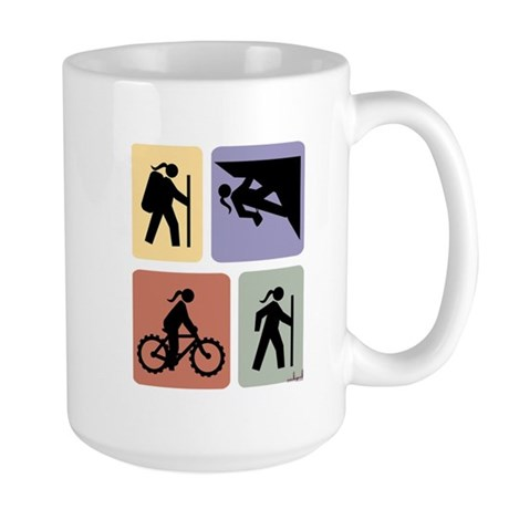 Multi Sport Grrls: Large Mug