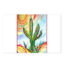 Saguaro, cactus, art, Postcards (Package of 8)