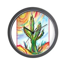 Saguaro, cactus, art, Wall Clock