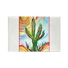 Saguaro, cactus, art, Rectangle Magnet
